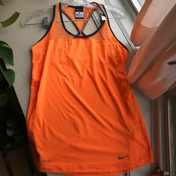 80197815898df Nike Dri Fit Mesh Racerback Tank Top - orange S. M 5ab050a731a376feba703f54